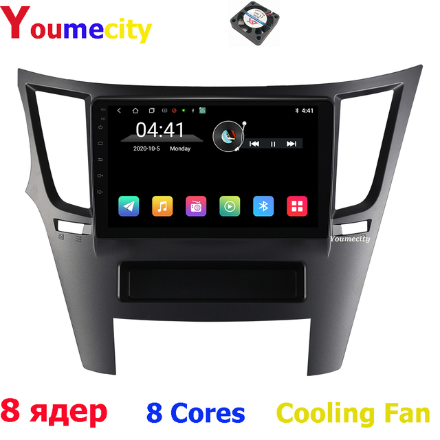 Eight Core/Android 9.0 Car Multimedia Player Gps For Subaru Legacy Outback 2009 2014 Car Radio Video dvd Stereo Audio Navigation