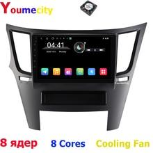 Radio Multimedia con Gps para coche, Radio con reproductor, navegador, ocho núcleos/Android 9,0, dvd, estéreo, para Subaru