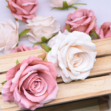 NEW 5/10pcs 10cm Artificial Flowers Head Silk Rose Flower For Wedding Home Decoration