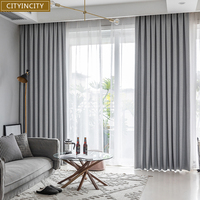 CIC 100% blackout Curtains for Bedroom luxury Home Decor  Solid Water Proof Curtain for living room Customized