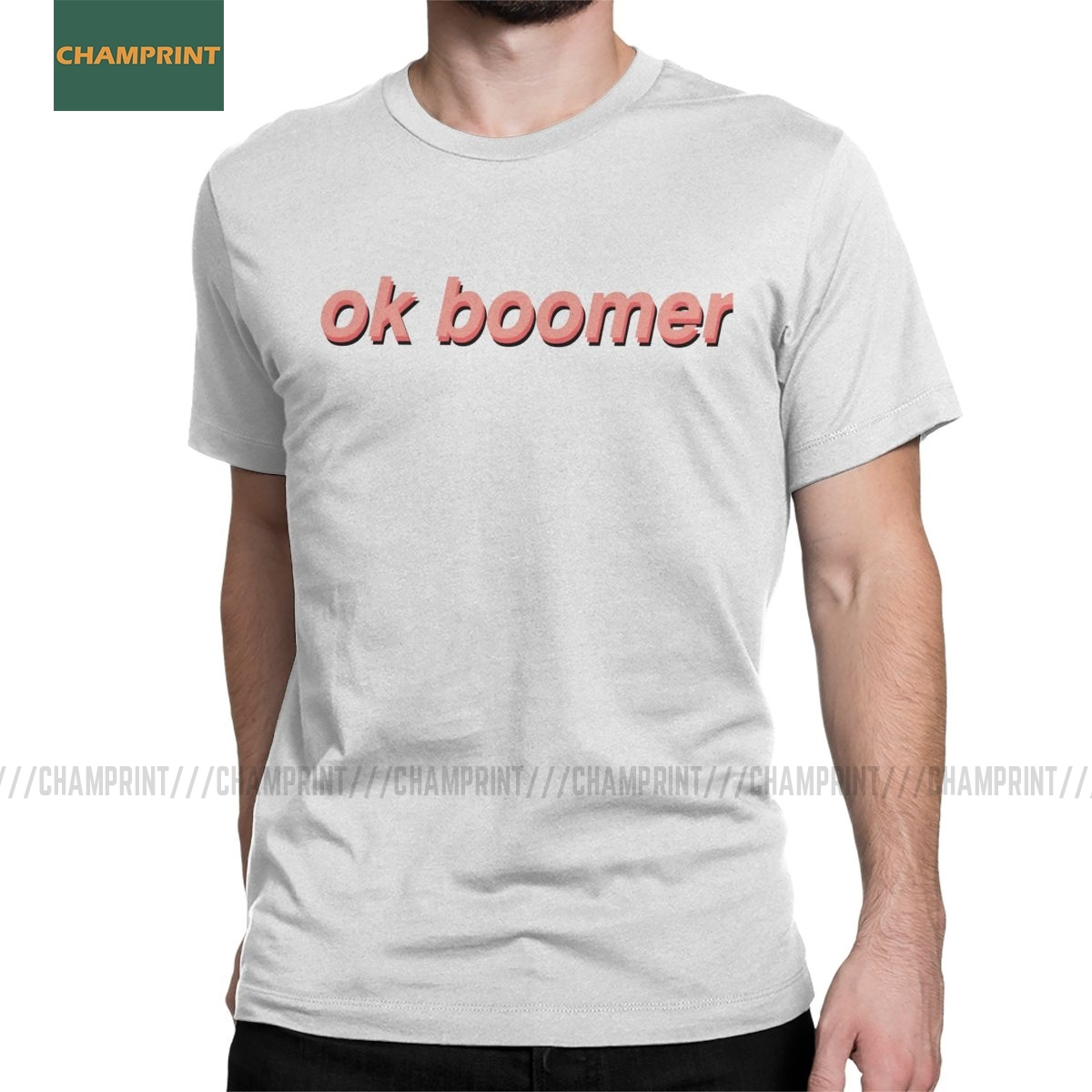 Men's OK Boomer T Shirts Quote Generation Z Okay Meme 100% Cotton Clothes Funny Short Sleeve Tee Shirt Birthday Gift T-Shirt image