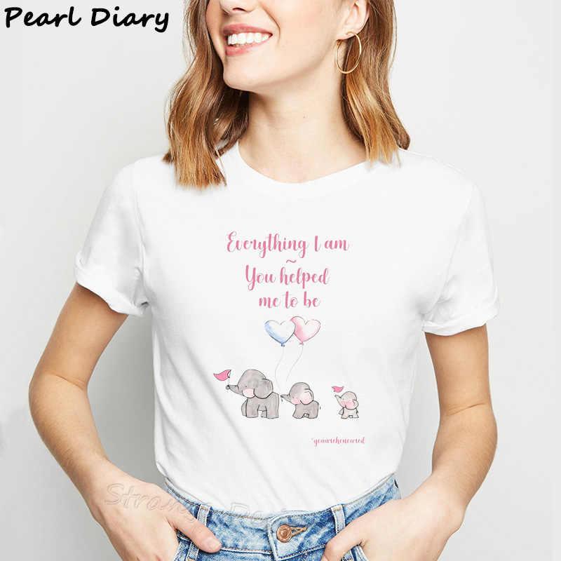 Женские футболки с воздушным шаром Dumbo, Милая футболка с рисунком животных, футболка с графическим принтом, модная одежда Kawaii, топы с изображением слона, футболки