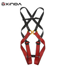 Kids Child Full Body Safety Sit Seat Belt Harness Tree Rock Climbing Safety Belt Rappelling Escalade Equipment professional full body 5 point safety harness seat sitting bust belt rock climbing rescue fall arrest protection gear equipment