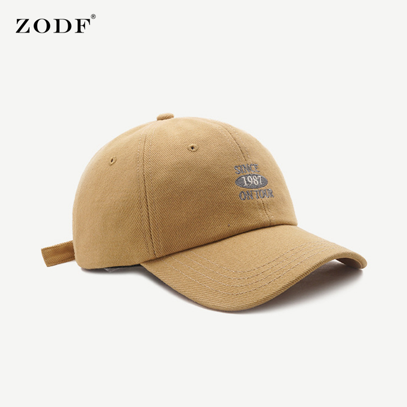 ZODF New Arrival Women Cotton Baseball Caps Letters Embroidery Casual Men Adjustable Snapback Visor Hat Brand HY0096