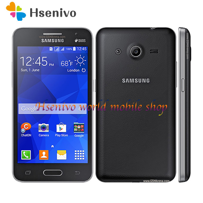Samsung Galaxy Core II G355H Dual sim card phone 4GB ROM 768 RAM 5MP Wifi GPS quad Core 4.5″ touch screen mobile phone