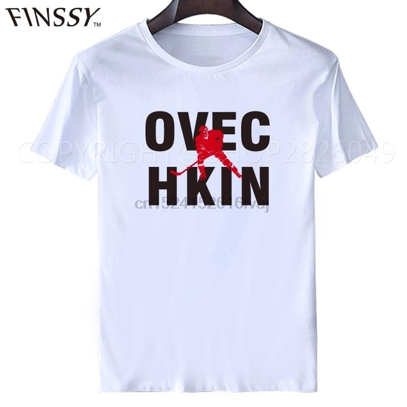 Ovechkin t shirt Fan Wear Ice Hockeys mens T-Shirt tops tees men's t-shirt casual shirt(China)