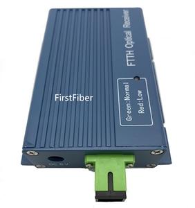 Image 3 - Aluminium CATV FTTH AGC Micro SC APC Simplex Connector with 2 Output Port  for PON  Fiber Optical Receiver
