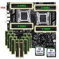 HUANANZHI X79-16D материнская плата Комплект двойной процессор Intel Xeon E5 2680 V2 память 512 г (16*32 г) RECC скидка материнская плата с VGA портом