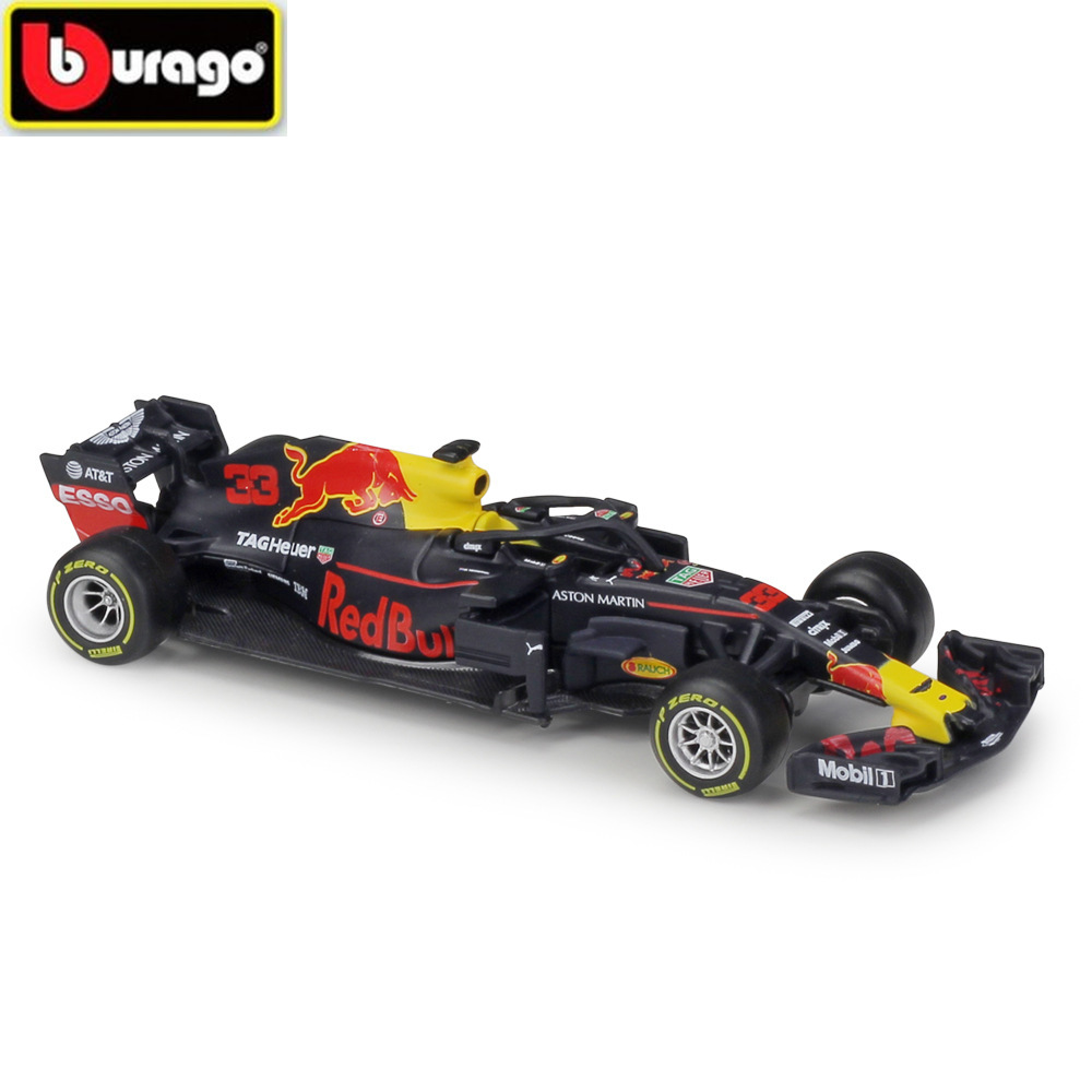BBURAGO 1:43 <font><b>F1</b></font> Racing Car <font><b>2018</b></font> Red Bull Racing RB14 Diecasts Simulation Alloy Car Model Toy Collection for Kids Gifts with Box image