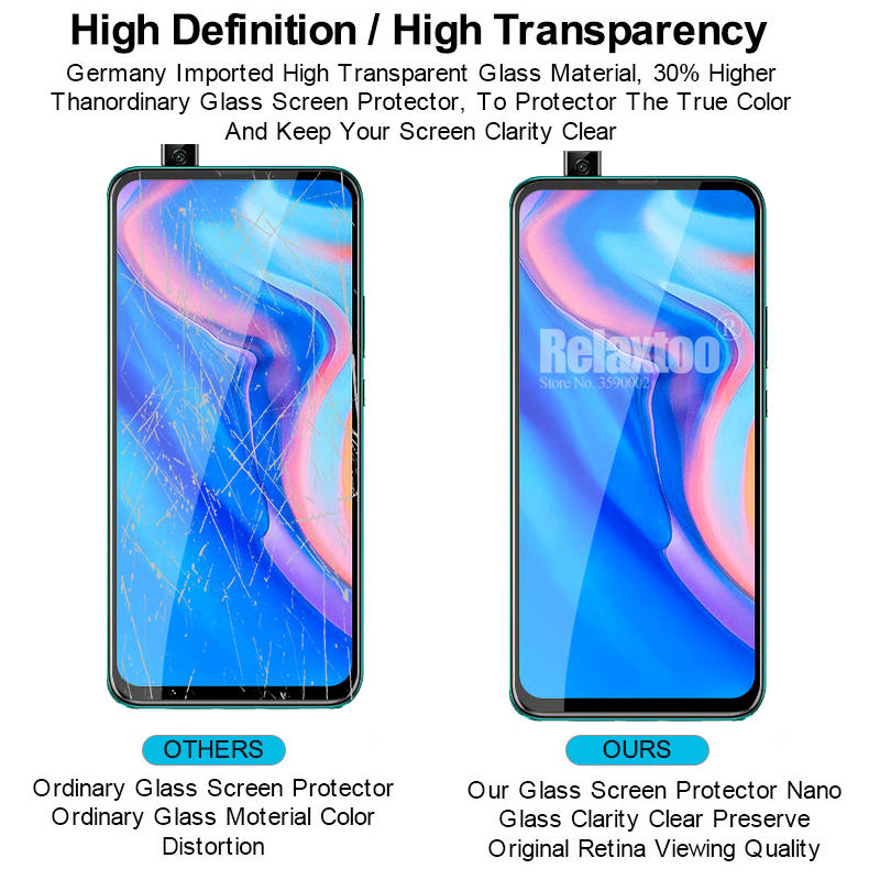 2 in 1 protective Glass For huawei p smart Z tempered Glass on hauwei p smart 2019 psmart Z STK-LX1 camera lens protector Film 4