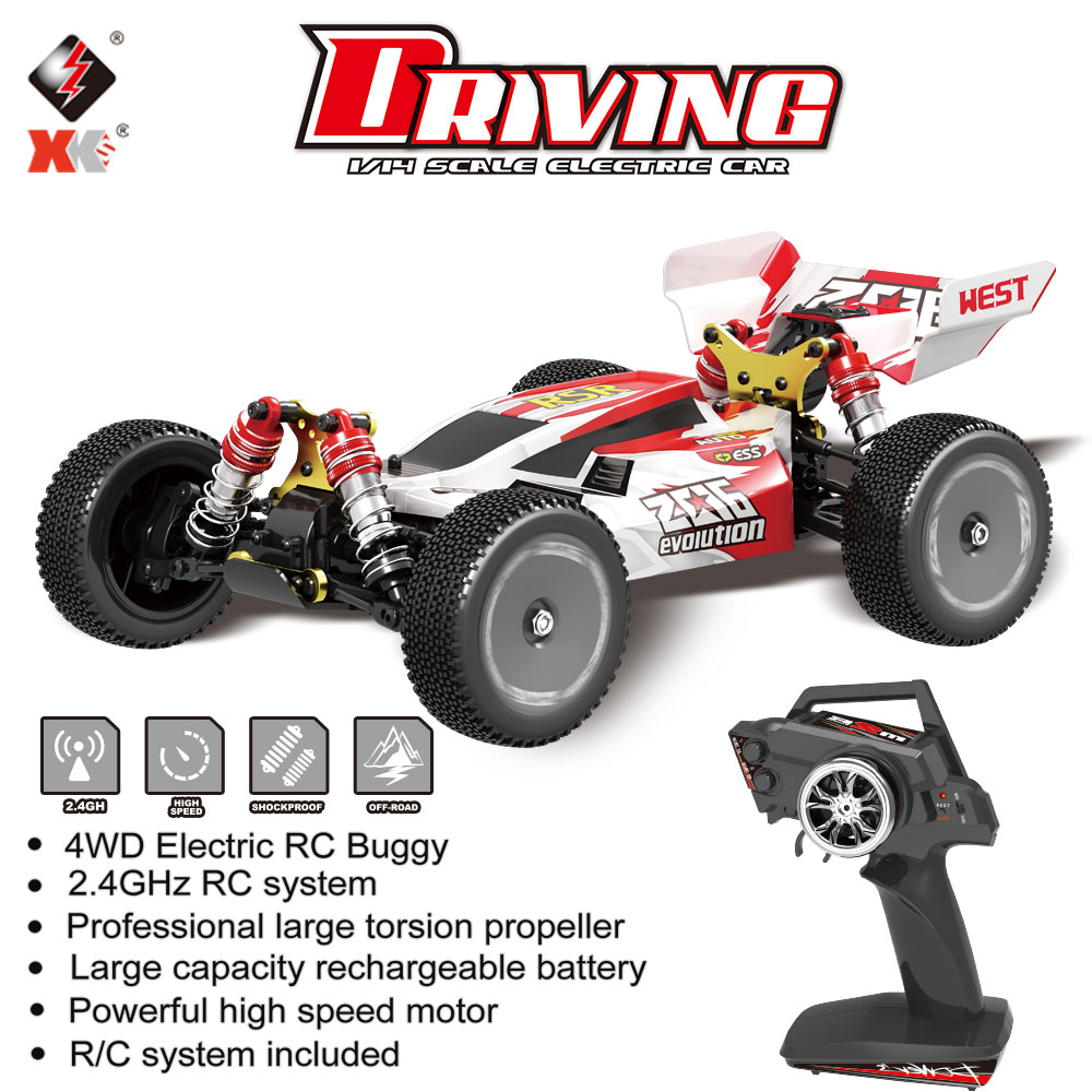 WL Toys XKS 144001 1/14 RC Racing Car 60Km/h High Speed 2.4GHz RC Buggy 4WD 550 Motor RC Off-Road Scale Drift RTR Toys