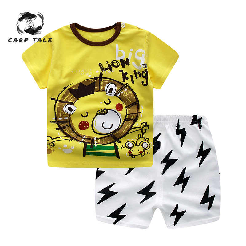 Baby Boy&girl Unisex Cartoon Printing Set Newborn Clothes New Born Overalls Baby Clothes for Boys Tshirt Baby Set Clothing 6-36M