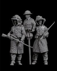 1/35 conjunto de resina figura kit snipers britânicos