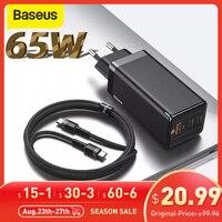 Baseus 65W GaN Ladegerät PD 3,0 Schnelle USB Ladegerät Für iPhone 11 Pro Max Samsung S10 Plus Unterstützung AFC FCP SCP QC 3,0 Schnell Ladegerät
