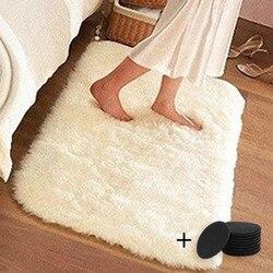 Couverture de ménage Super doux tapis fausse fourrure tapis chambre canapé salon petits tapis en peluche tapis 40x60cm décor à la maison tapis