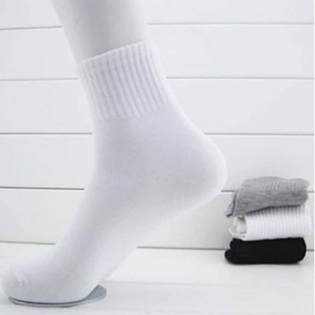 2 Pairs Men Socks Winter Warm Thermal Socks Male Casual Soft Cotton Socks Middle Tube Solid Color Elasticity Mesh Socks