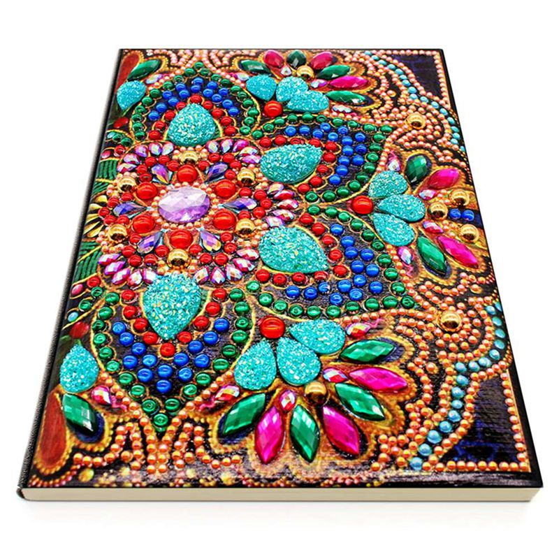 Diy Art Diamond Painting Notebook Diary Full Round Diamond Mosaic Embroidery A5 64 Pages Owl Peacock Mandala Butterfly