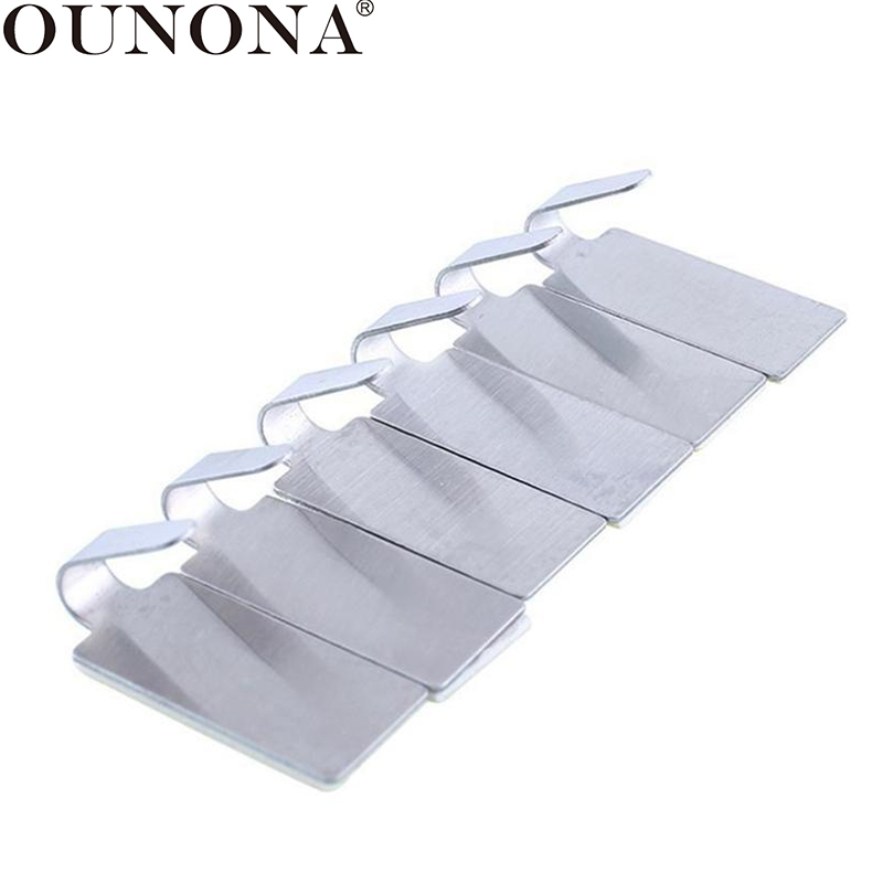 OUNONA 6/12pcs Adhesive Wall Hooks No Drilling Key Coat Hat Hanging Hanger Bathroom Towel Hooks For Kitchen Bathroom
