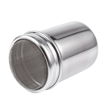 Silver stainless steel mesh tube type dusters dusting salt shaker spice jar refill dusters cloth white