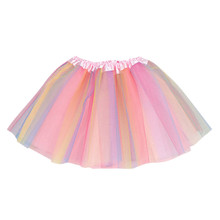 Tutu-Skirt Costume Faldas Tulle Girls Baby Multicolor Toddler Outfits Jupe Bouffant Kids