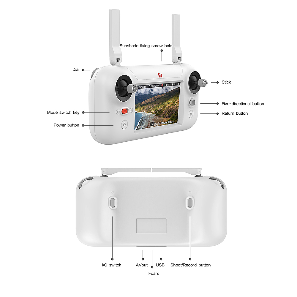 Image 4 - FIMI A3 GPS RC Drone with 1080P Camera  3 axis Gimbal 5.8G FPV Real time Transmission Aerial Photography RC QuadcopterRC Helicopters   -