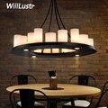 Реплика Kevin Reilly Hemel Math Ring подвесной светильник свечи Подвесная лампа для ресторана светодиодная белая стеклянная подвеска свеча люстра
