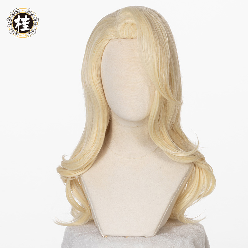 Uwowo Snow Princess Elsa Long Light Yellow Wave Wigs Long Curly Wig Gold Party Wig Girls Women