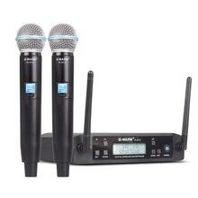 Микрофон Беспроводной g mark d4 Профессиональный 2 Каналы uhf