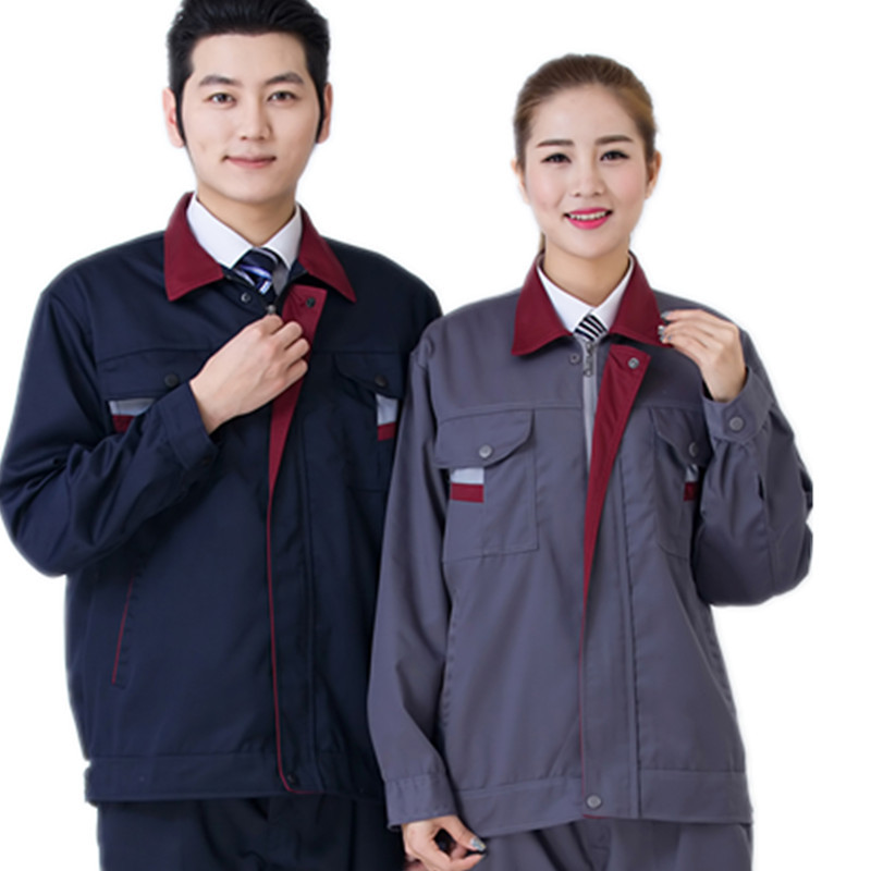 Worker Clothing Workwear Clothes Set Male/female Workmen Factory Uniform Work Clothes Long-sleeved Overalls Suit Male Free Ship
