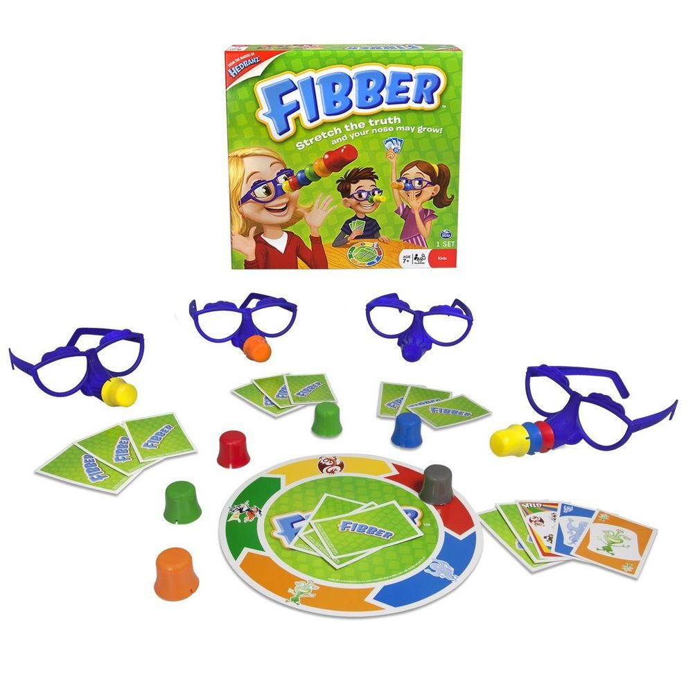 Funny Toy Liar Fibber Board Game Set Great Family Fun Educational Toys Noses & Glasses For 2-4 Players