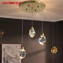Минимализм светодиодные подвесные светильники промышленного освещения Северной подвесной Кристалл бар лампы для кухни столовой стиле лофт свет