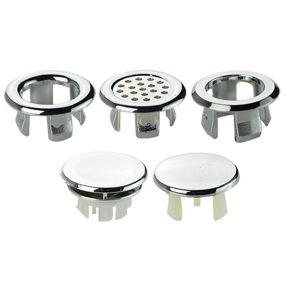 1Pcs High Quality Sink Round Ring Overflow Spare Cover Cap Tidy Chrome Trim Bathroom Ceramic Basin Overflow Ring 22mm-24mm 2020