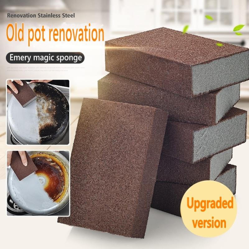 Kitchen Accessories Emery Nano Sponge Magic Sponge For Removing Rust Cleaning Cotton Gadget Descaling Clean Rub Pot Kitchen Tool