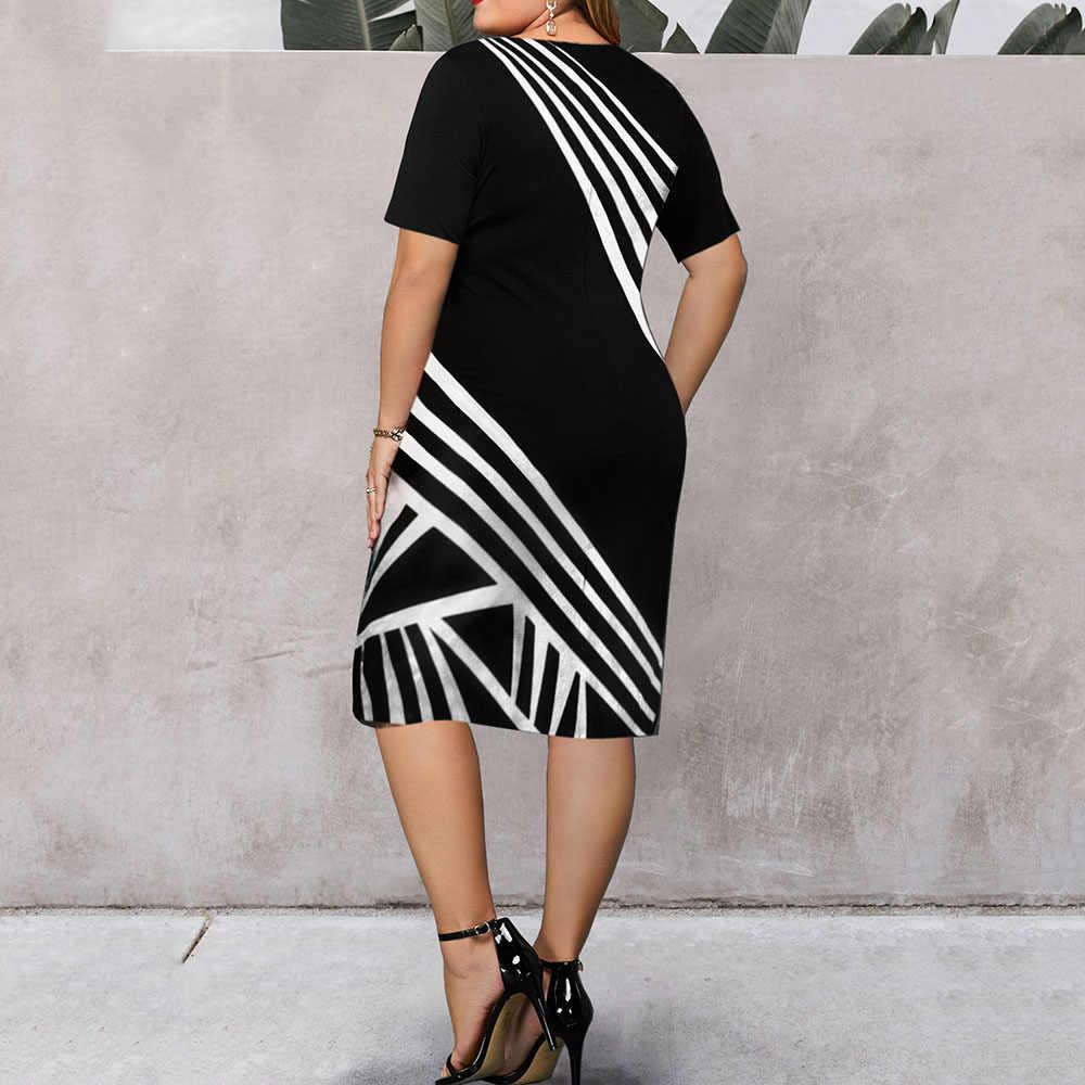 2020 винтажное сексуальное Полосатое платье миди с принтом, женское платье с круглым вырезом и коротким рукавом для выпускного вечера, женское ретро элегантное платье