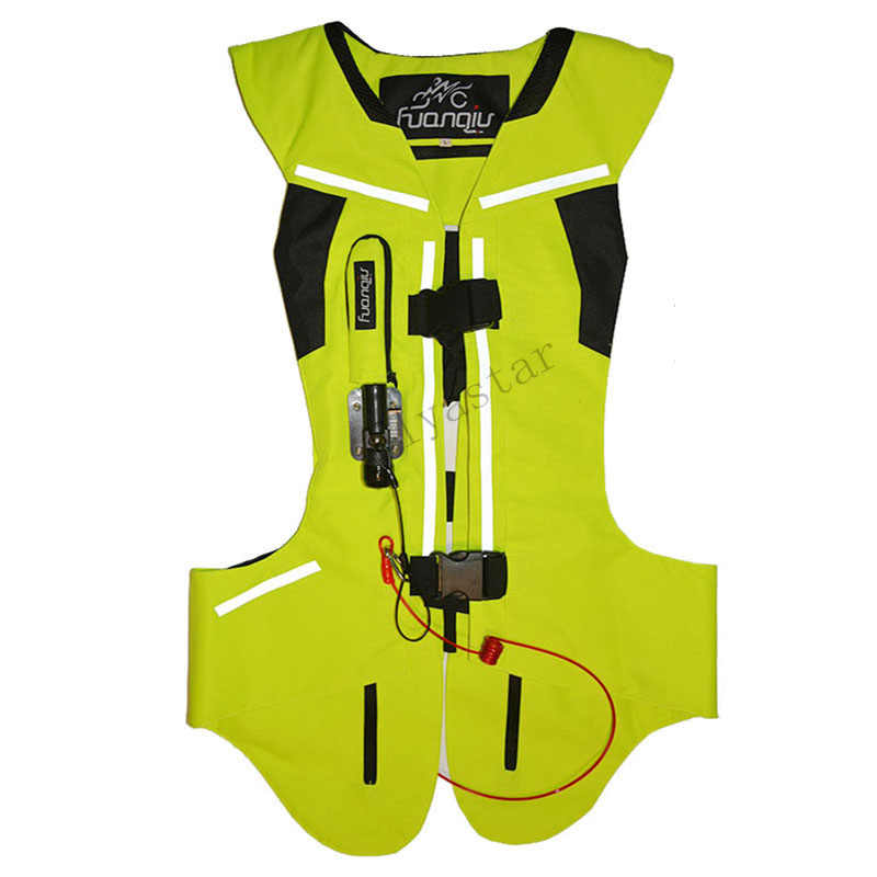 Moto rcycle airbag gilet Moto Racing professionnel avancé airbag système moto cross protection airbag noir Fluorescent
