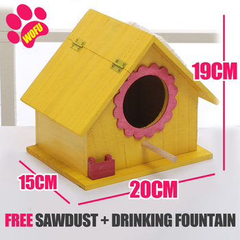 """""""We Love Our Pets"""" Wooden Outdoor Bird Cottage   8"""