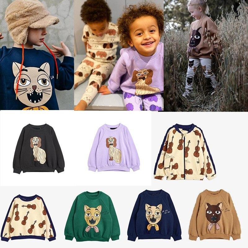 Mini R Kids Sweatshirt Long Sleeve T-Shirts Boys Girls Casual Cartoon Top New Autumn Winter Toddler Cotton Tee Children Clothes 1