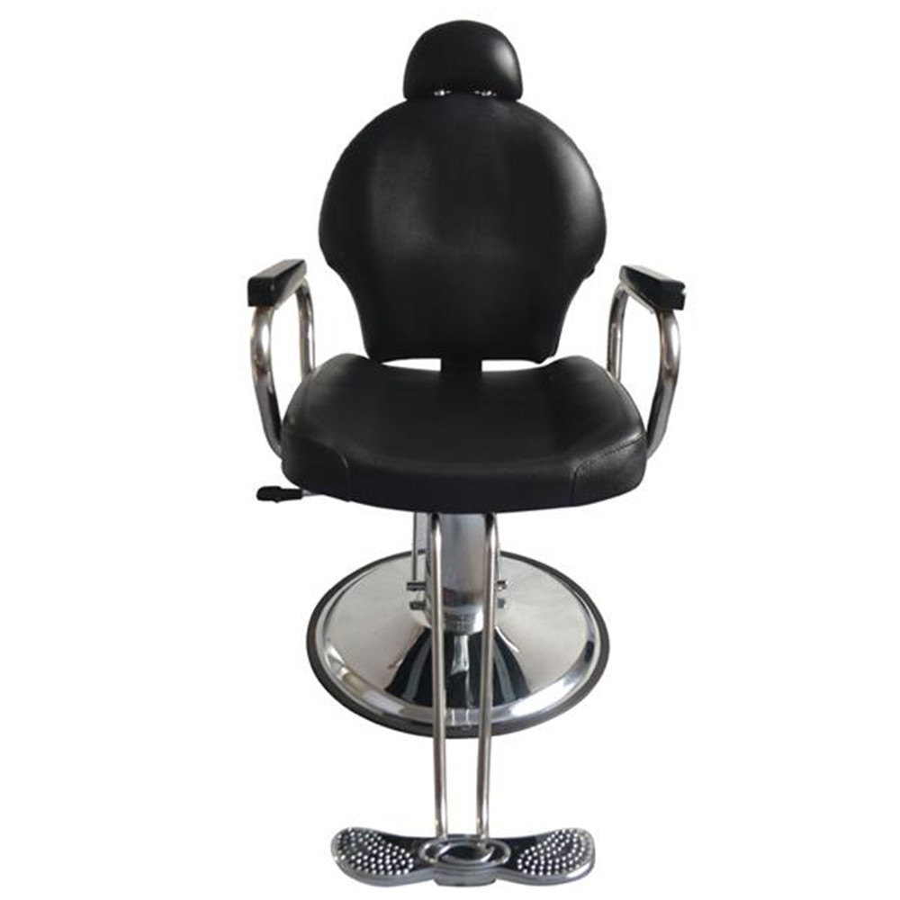 8735 Man Barber Chair With Headrest Black