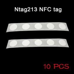 10 Pcs Nfc Tags Sticker 13.56 Mhz 25 Mm Chip Universele Duurzaam Voor Mobiele Telefoon KQS8