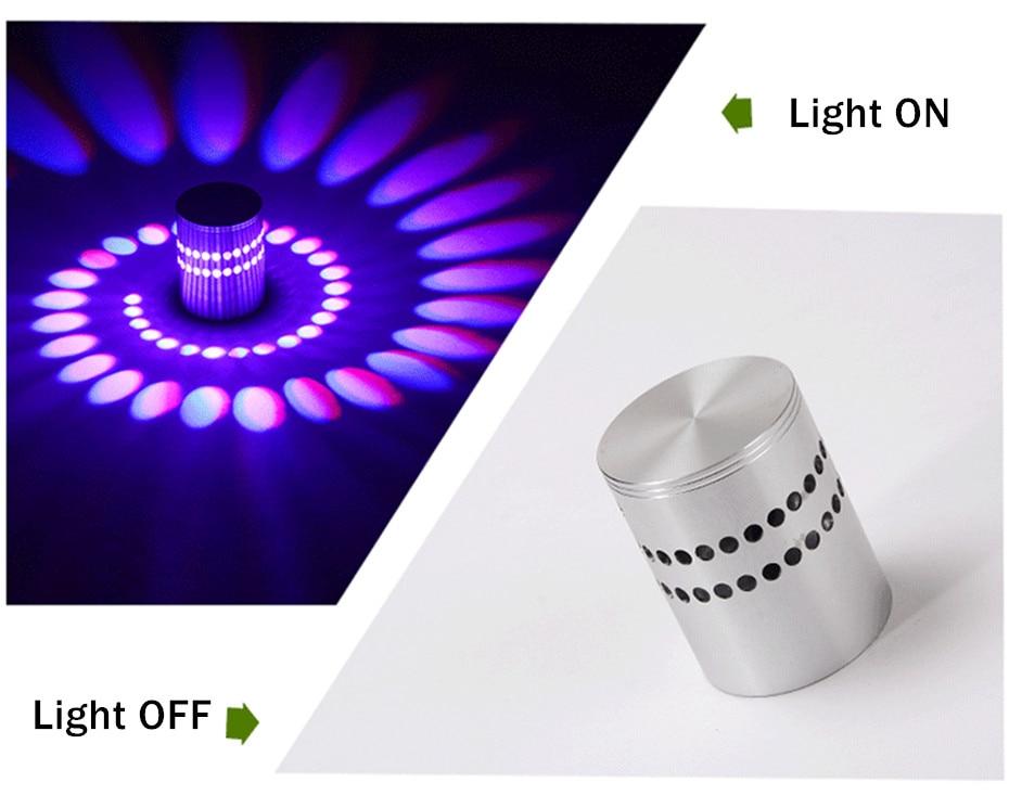 Modern LED Ceiling Light 3W RGB Porch Lamp Surface Mount Flush Lighting Fixture Balcony Corridors Living Room Decor
