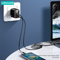 USAMS 20W Fast Charger USB QC3.0+PD Type C Quick Charge For iPhone 12 11 X Xs Xr Pro MaxS iPad Huawei Xiaomi LG Samsung