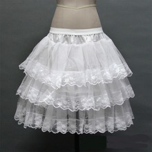 Lolita Petticoat Underskirt Wedding-Dress No-Hoops Bridal-Party Cosplay Women Lace