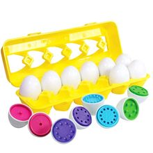 Color Matching Egg Set - Toddler Toys - Educational Color & Number Recognition Skills Learning Toy - Easter Eggs number skills