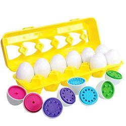 Farbe Passenden Ei Set-Kleinkind Spielzeug-Pädagogisches Farbe & Anzahl Anerkennung Fähigkeiten Lernen Spielzeug-Ostern Eier