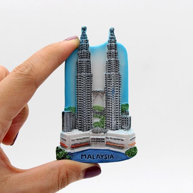 Macao malaysia maldives roma china Shanghai Disneyland Singapore switzerland Taj Mahal india 3d fridge magnets home decoration 4