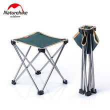 Naturehike Folding Camping Stool Foldable Lightweight Camping chair Foldable Portable Beach Chair Backpack Fishing Chair Stool 1 pc outdoor camping barbecue foldable stool beach fishing folding chair portable stainless steel plastic seat