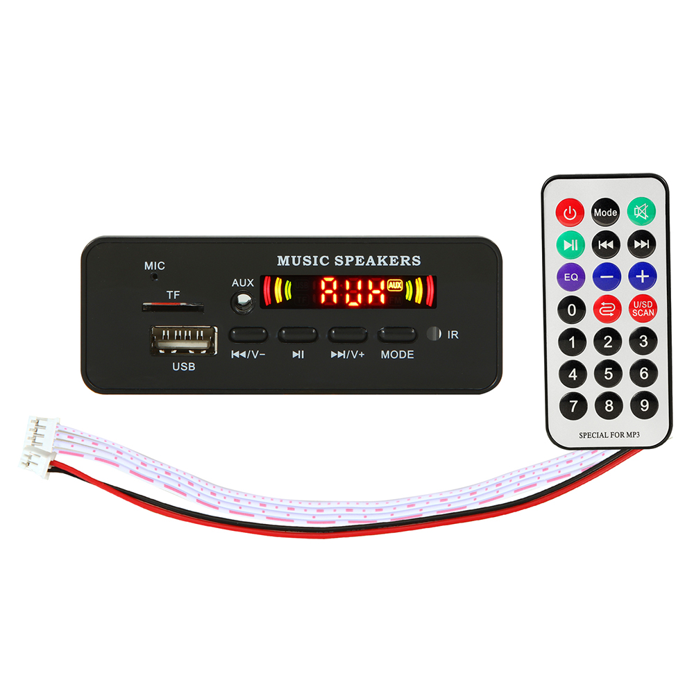 Bluetooth 5.0 MP3 Decoder Decoding Board Module 5 V 12v Car USB MP3 Player WMA WAV TF Card Slot / USB / FM Remote Board Module
