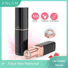 ANLAN Promotion Female Mini Electric Epilator Women Body Face Lipstick Shape Shaving Shaver Lady Hair Remover IPX6 Waterproof