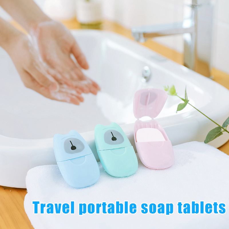 50 Pcs Portable Soap Paper Disposable Scented Slice Sheets Hand Washing Mini For Travel Hand Antiseptic Paper Soap Layered Soaps
