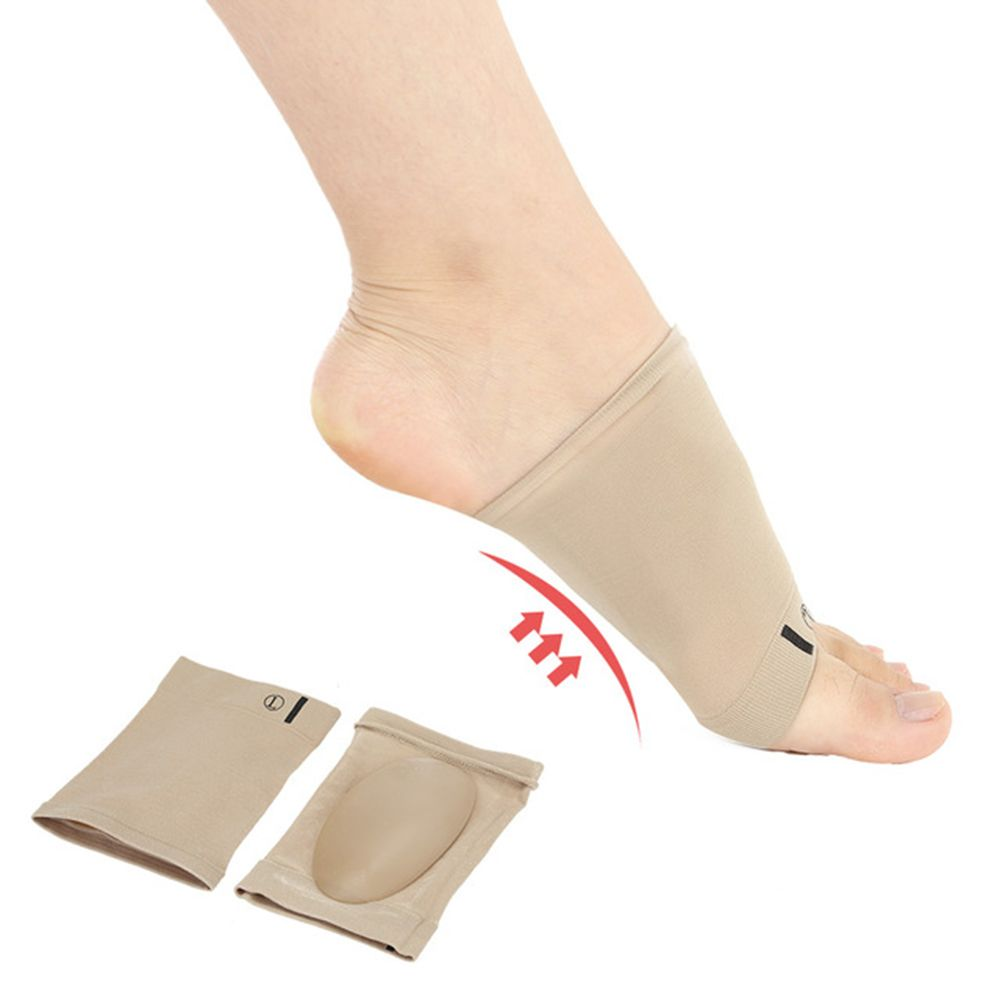 New 1Pair Silicone Gel Arches Footful Orthotic Arch Support Foot Brace Flat Feet Relieve Pain Comfortable Shoes Orthotic Insoles